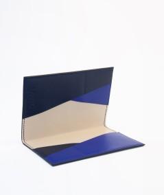 protège-passeport voyageur lamaro bleu nuit intérieur doublure beige