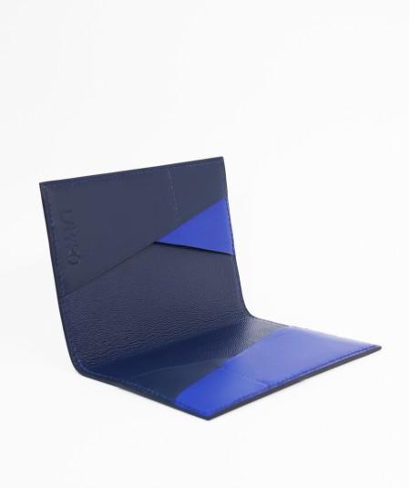 protège-passeport voyageur lamaro bleu marine intérieur bleu nuit bleu roi