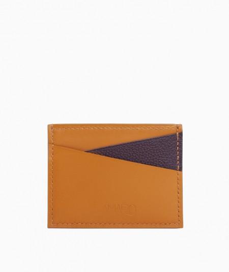porte-cartes cuir upcyclé