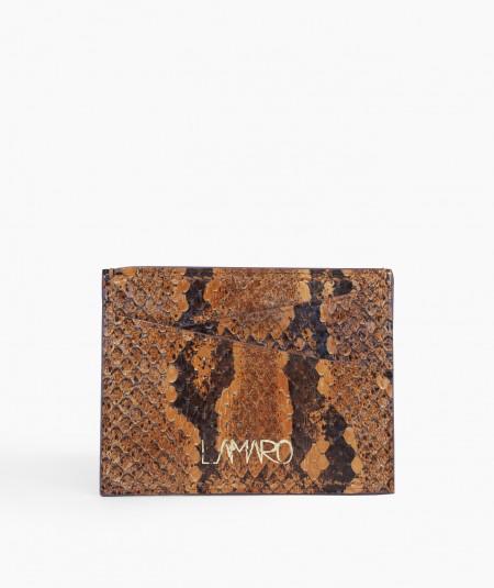 porte-cartes cuir de serpent