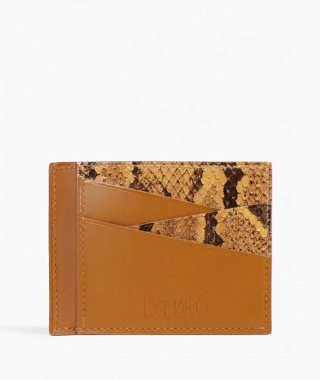 porte-cartes en cuir de serpent