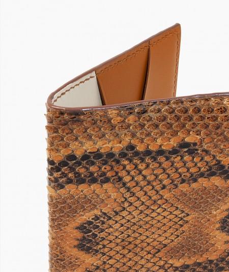 protège passeport en cuir de serpent