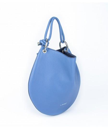 sac en cuir bleu clair