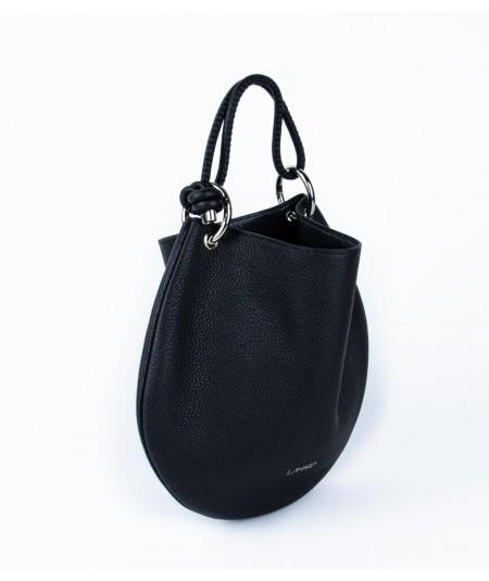 sac en cuir de veau noir vasarely