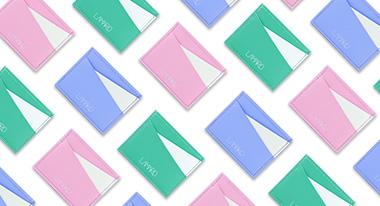 porte-cartes en cuir pastel paradise lamaro